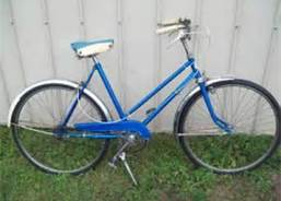 My blue bike is long gone, but it looked something like this.